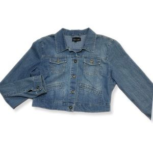 New Look Cropped Denim Jean Jacket